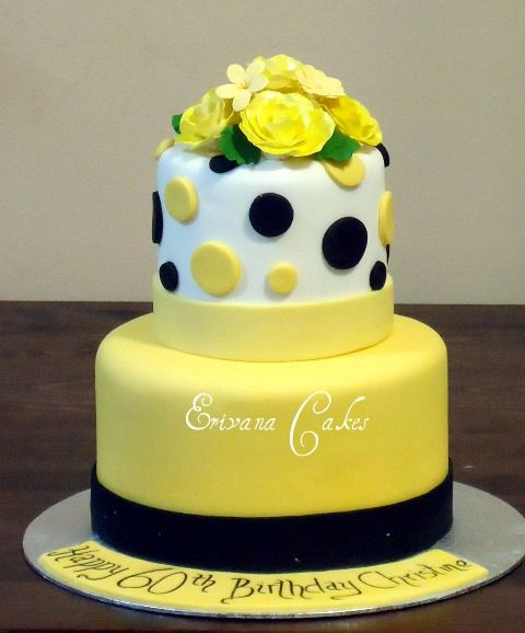 Surprising Yellow And Black Cake Yellow Birthday Cakes White Birthday Personalised Birthday Cards Paralily Jamesorg