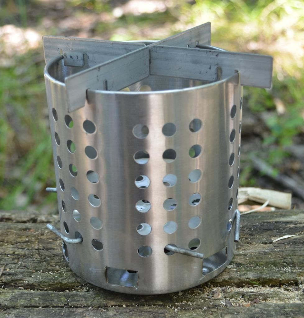 Homemade stove made from an Ikea silverware cannister   Knives and ...