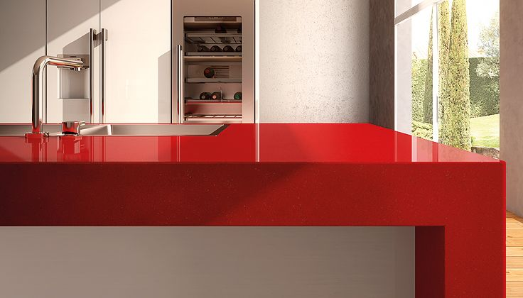 Caesarstone Classico 3452 Red Shimmer Quartz Countertops Colors
