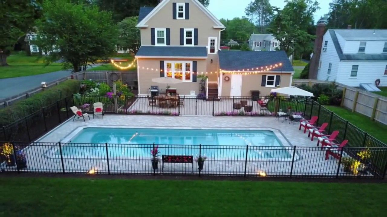 Scovill S Backyard Pool Patio Inground Pool Landscaping