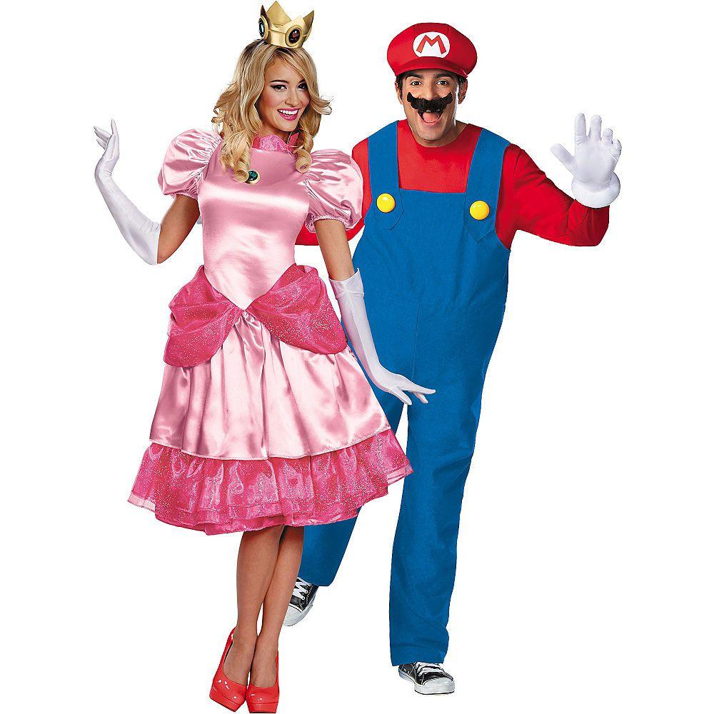 Adult Princess Peach Mario Couples Costumes Image 1
