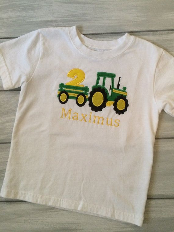 Tractor Birthday Shirt John Deere By RydersCreations 2000