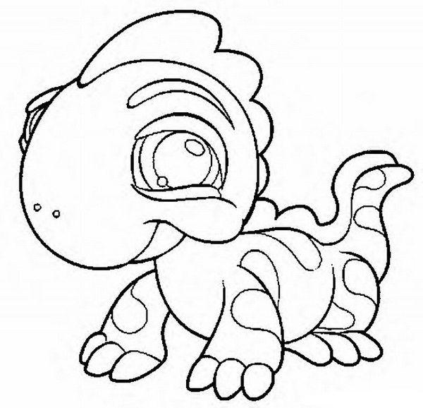 littlest pet shop lizard coloring pages