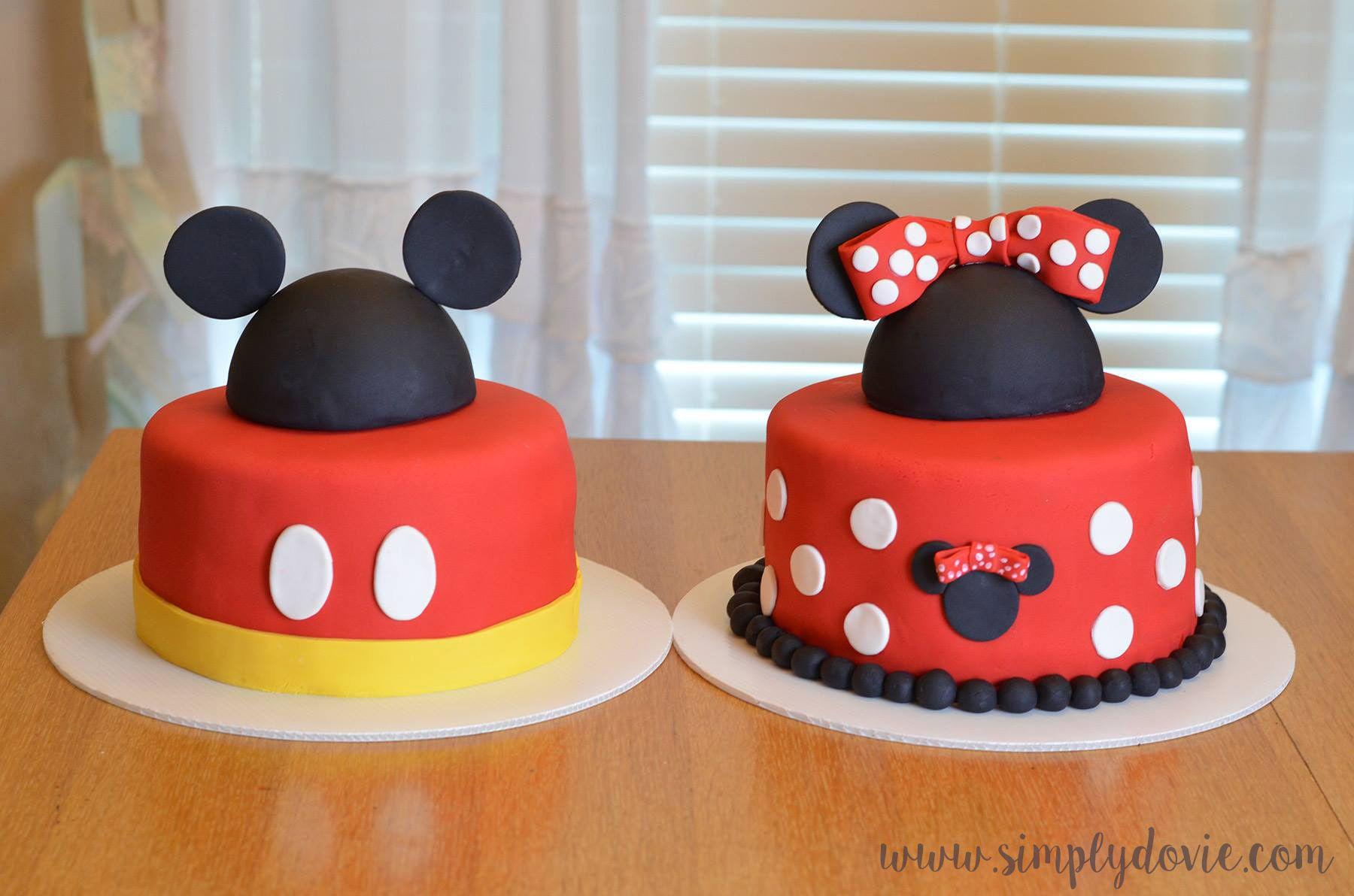 Peachy Mickey Mouse Cake Minnie Mouse Cake Birthday Cake Mickey Mouse Personalised Birthday Cards Vishlily Jamesorg