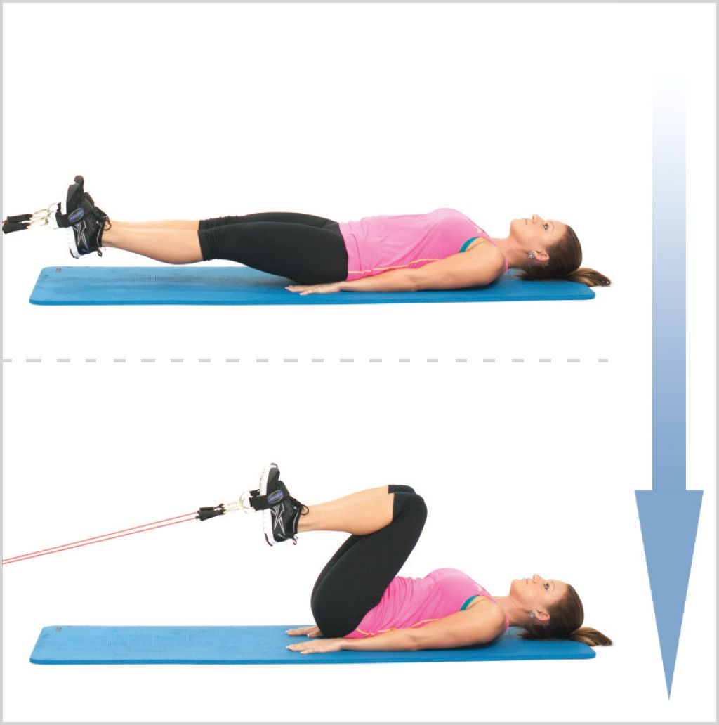 Do Lying Hip Flexion With Resistance Bands For Great