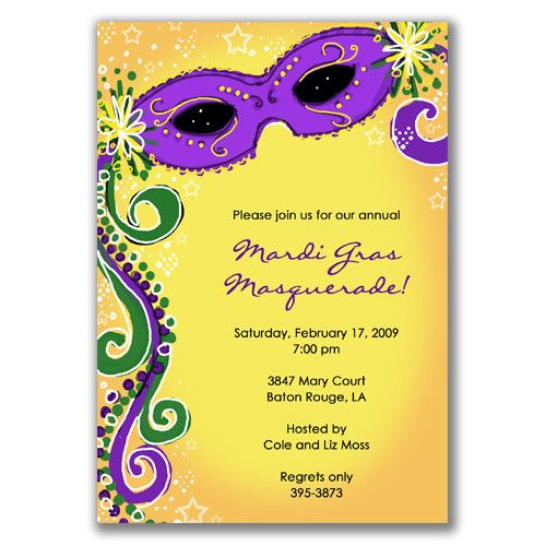 mardi gras invitation | mardi gras | pinterest | mardi gras, mardi, Party invitations