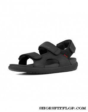 Fitflop Mens Sandals Landsurfer Black