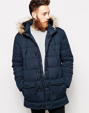 ASOS Quilted Parka Jacket | Outerwear - Heavyweight | Pinterest