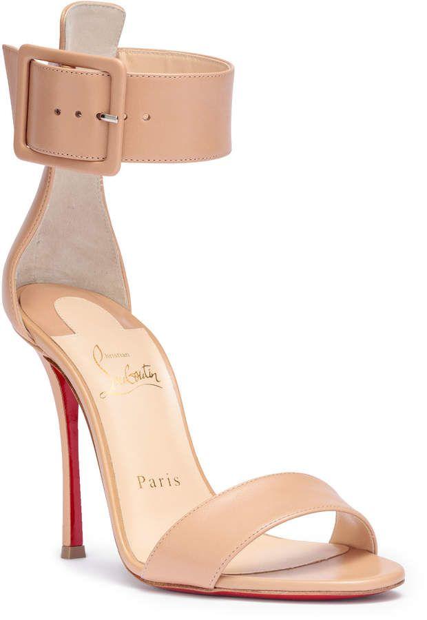 591d30073e8f Christian Louboutin Blade Runana 100 beige leather sandals