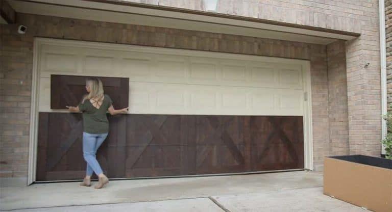 Garageskins Give You A Wood Look Without The Cost In 2020 Garage Doors Garage Door Design Faux Wood Garage Door