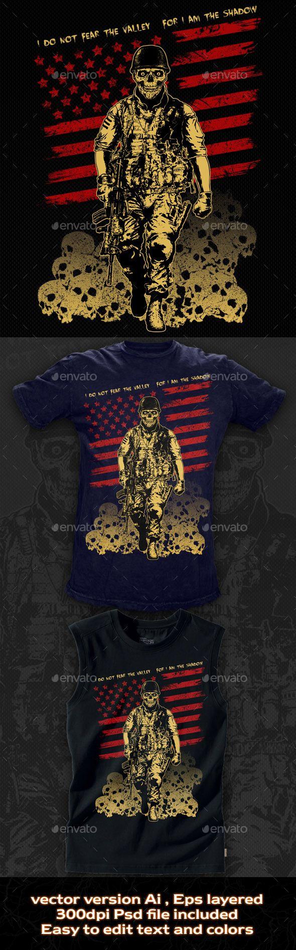 Shirt design eps - T Shirt Illustration The Skull Soldier