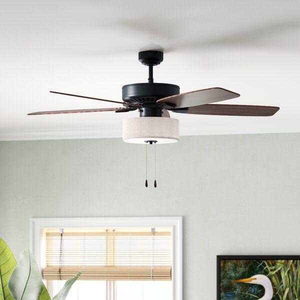 52 Sybilla 5 Blade Standard Ceiling Fan With Light Kit Included In 2020 Ceiling Fan Ceiling Fan With Light Ceiling Fan Bedroom