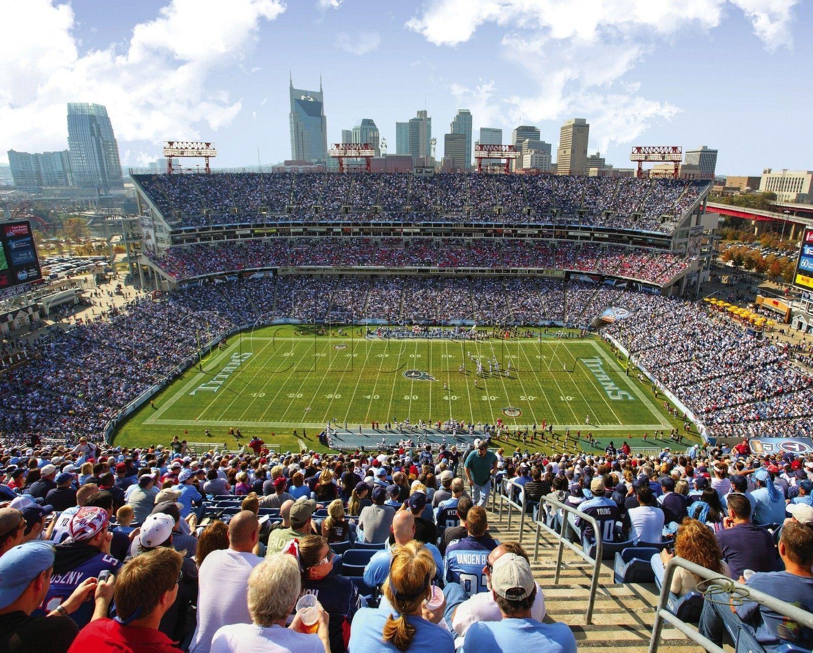 Tennessee Titans Lp Field 50 Yard Line Nashville View Nfl Football 8x10 Photo Tennessee Titans 8x10 Photo Nfl Football