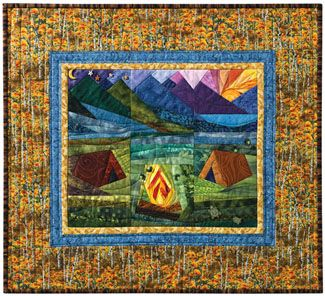Sugarloaf Campground | A Quilt - CAMPING | Pinterest | Paper ... : camping quilt - Adamdwight.com