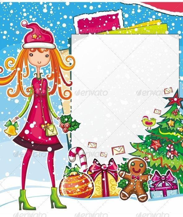 Christmas Cartoon, Christmas sale and Messages