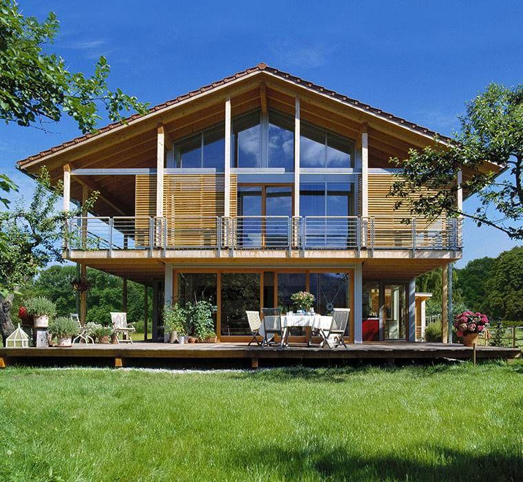 Holzhaus bungalow modern  Architekt, Bau, Baufritz, Design, Designhaus-Konzept, Georg ...