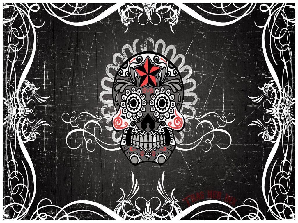 Skull3 Mexican Art Skull Wallpaper Mexican Skulls