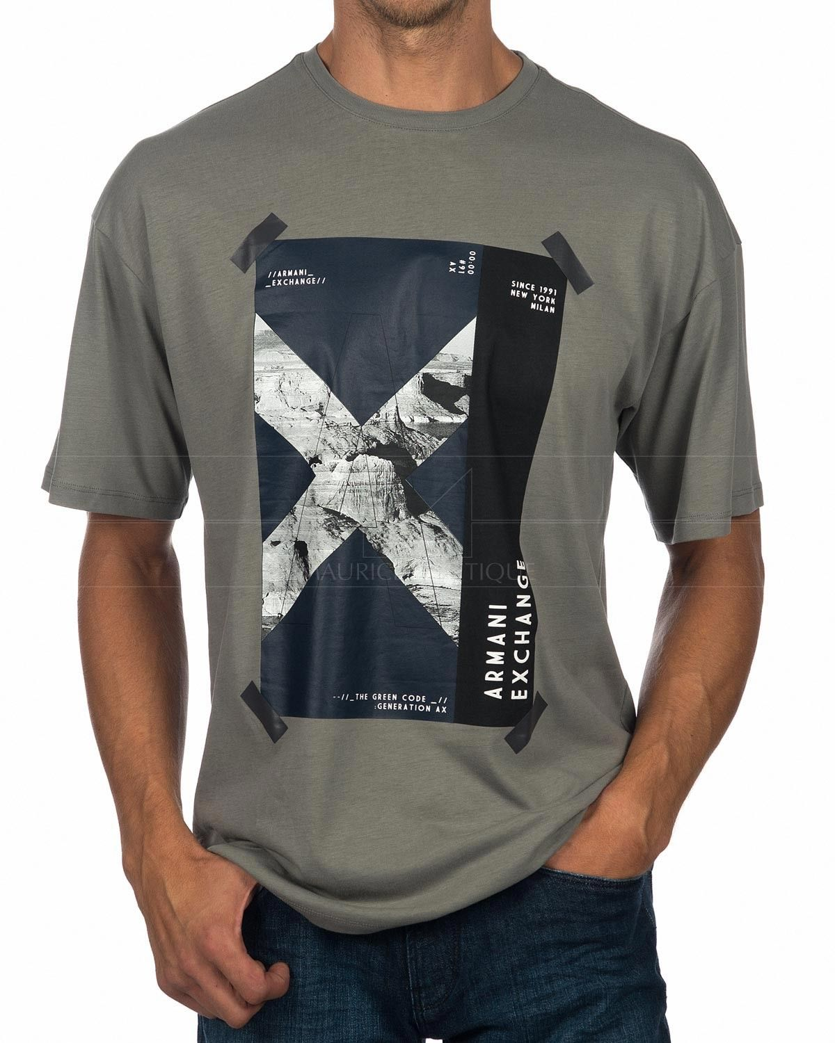 f2773e144cd7 Armani Exchange T-Shirt - The Green Code in 2019 | Black shirt | T ...