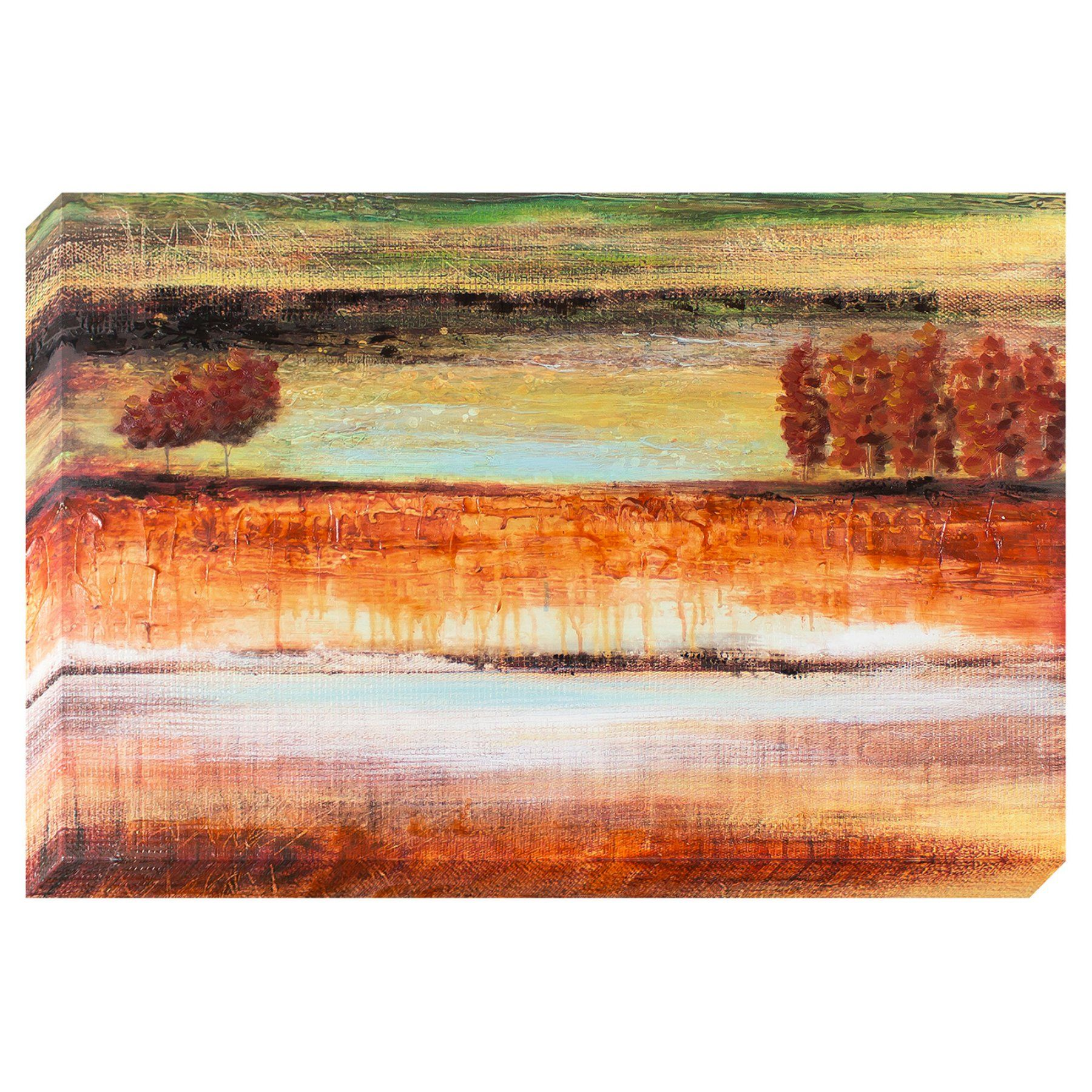 Decor Therapy Warm Layers Landscape Oil Painted Canvas - 1606-8138LOW