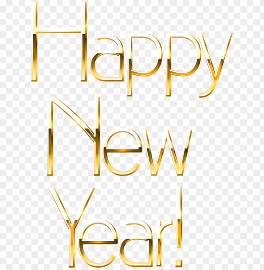 Happy New Year Gold Png Image With Transparent Background Png Free Png Images Happy New Year Png New Year Clipart Happy New Year Emoji