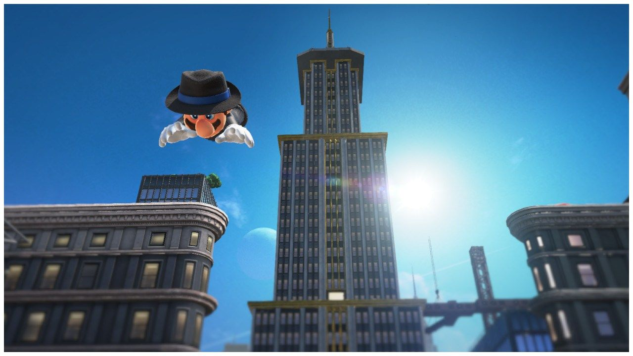 Super Mario Odyssey Jumping Off The Highest Building In The Metro Kingdom Super Mario Odyssey Mario Odyssey Super Mario