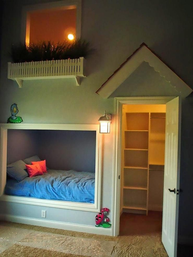Atrractive Small Kids Bedroom Interior Design With Unique Bed Cover Beside  Door Also Wall Lamp Decor Ideas Amazing Kids Bedroom Design With Smart  Concept ...