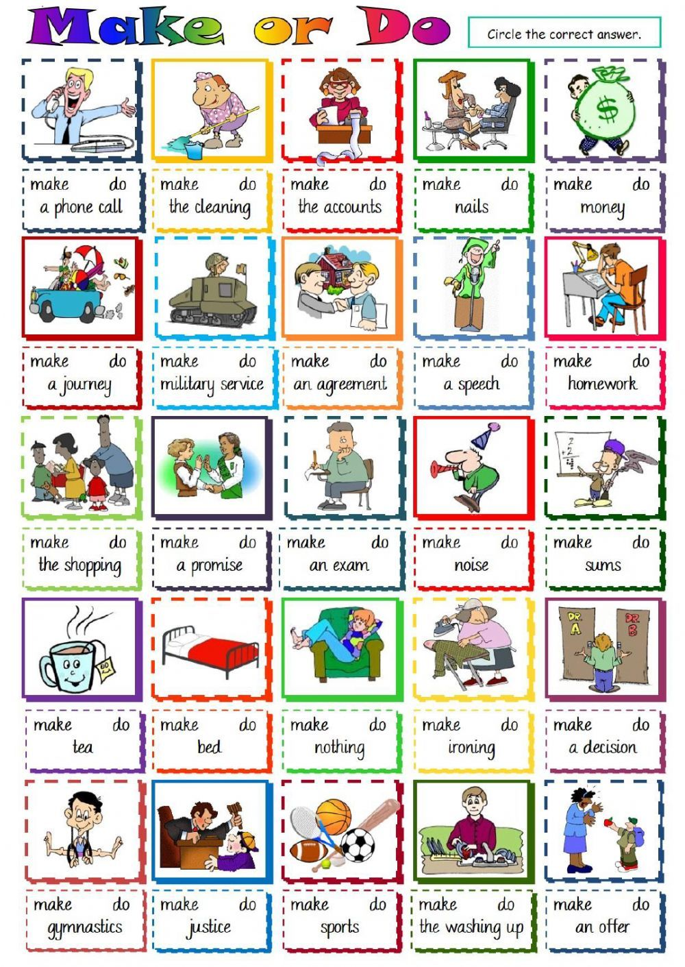 Collocations interactive and downloadable worksheet. Check your ...