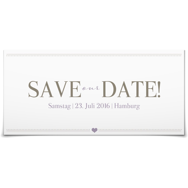 Save the Date Herzensangelegenheit in Taupe - Postkarte lang #Hochzeit #Hochzeitskarten #SaveTheDate #Foto #modern #Typo https://www.goldbek.de/hochzeit/hochzeitskarten/save-the-date/save-the-date-herzensangelegenheit?color=taupe&design=e99f3&utm_campaign=autoproducts