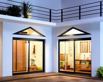 10 baies vitr es pour flirter avec l 39 ext rieur baie coulissante alu baie coulissante et lapeyre. Black Bedroom Furniture Sets. Home Design Ideas