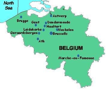 Lace-making in Belgium ze zijn Leuven, Hasselt en Genk vergeten