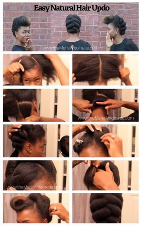 Natural Hair Updo Natural Hair Updo Natural Hair Styles Natural Hair Diy
