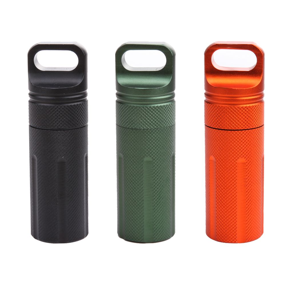 Waterproof Capsule Tank Outdoor Pill Seal Case Container Storage EDC Tool