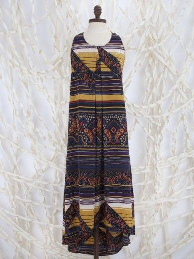 Altar'd State Paisley n' Stripes Pillar Dress