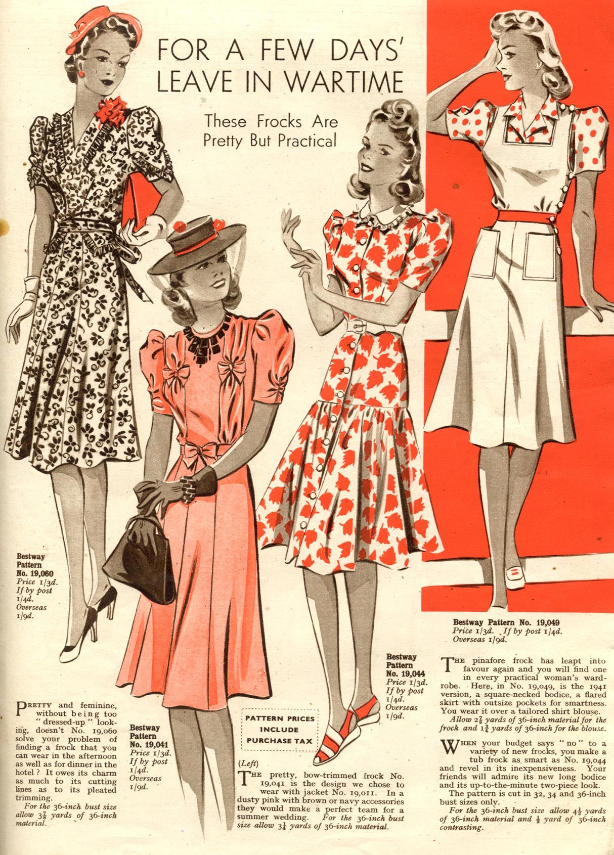 These frocks are pretty but practical vintage s fashion