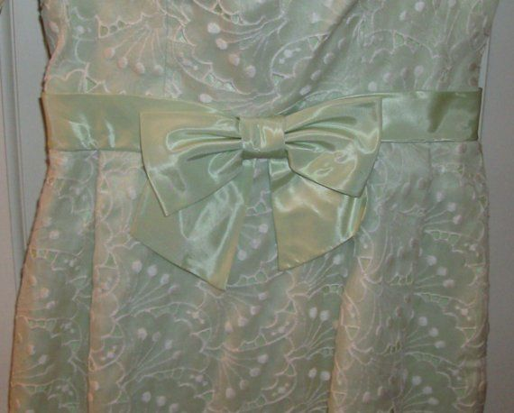 Mint Green Formal Dress by fromlosttofound on Etsy, $14.95