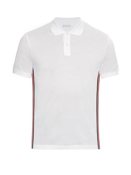 mens white moncler polo