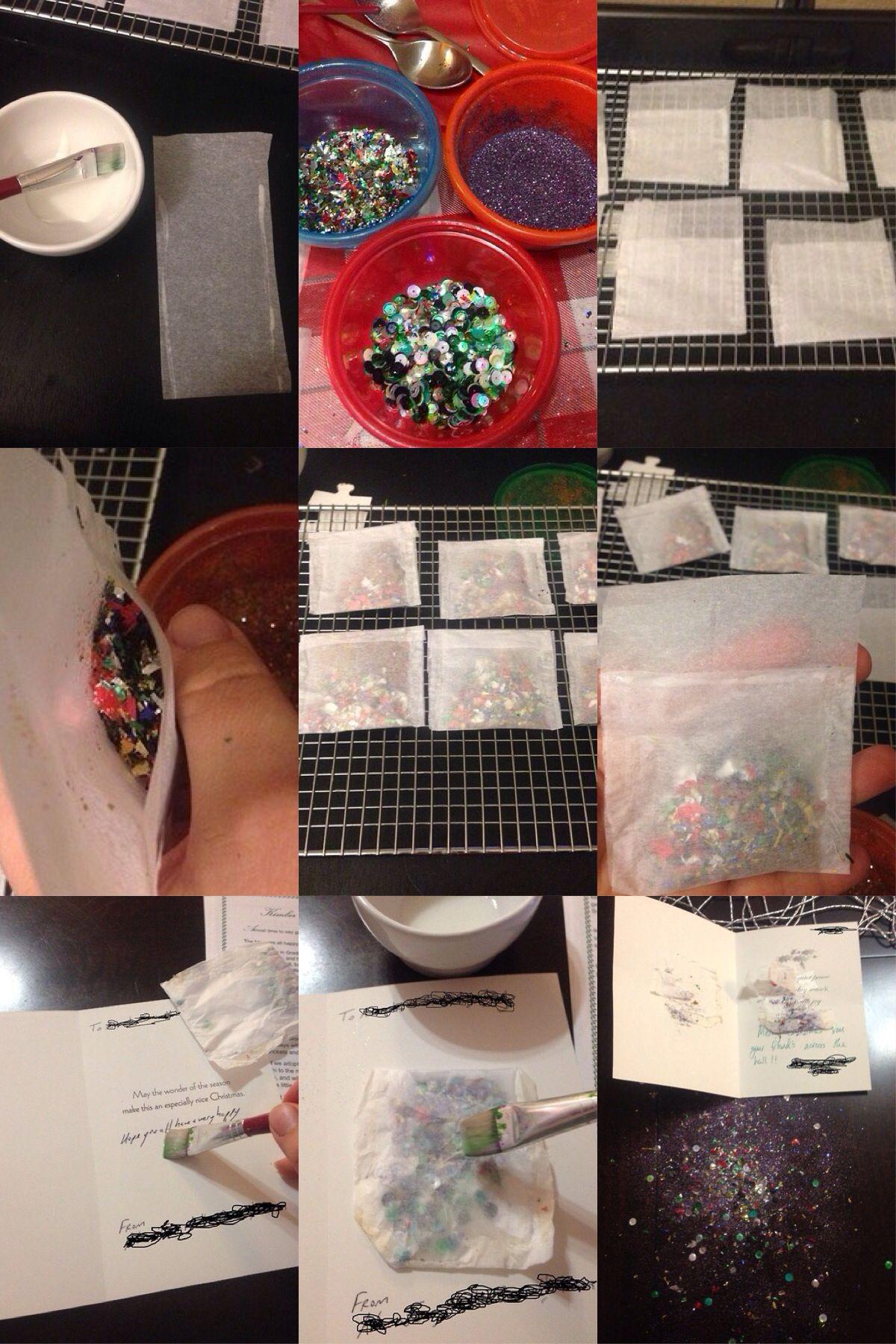 how to make glitter bombs
