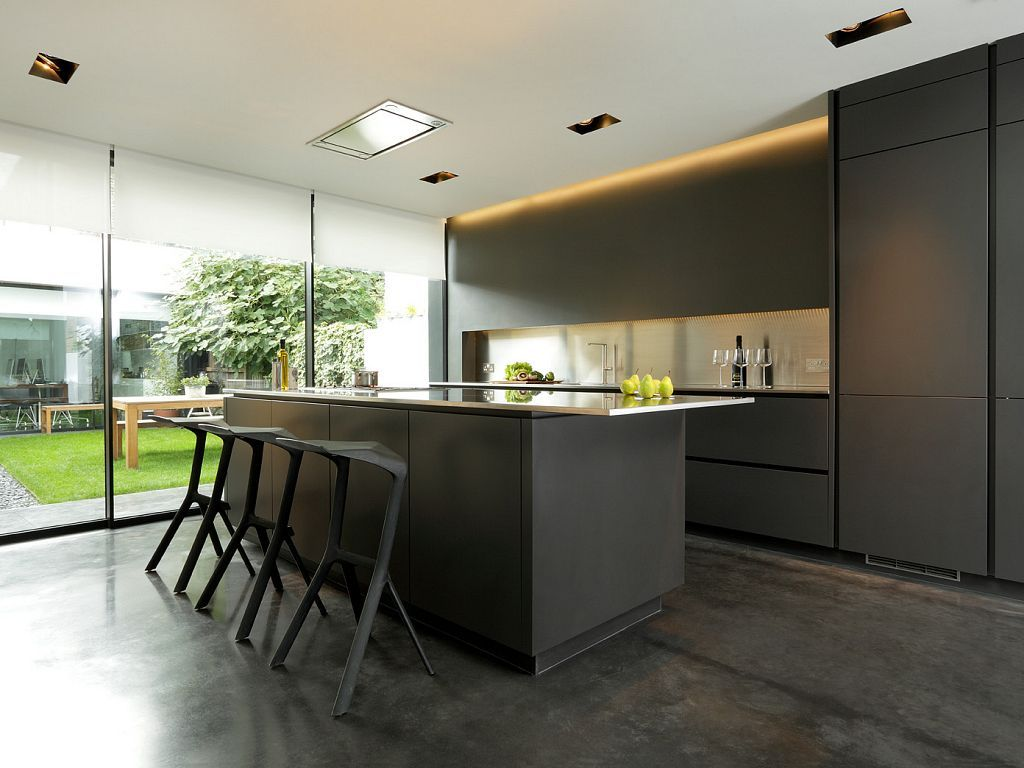 Beautiful Snowdowne Alno Star Fine Graphite Matt Kitchen Stainless Steel Worktops Snowdowne