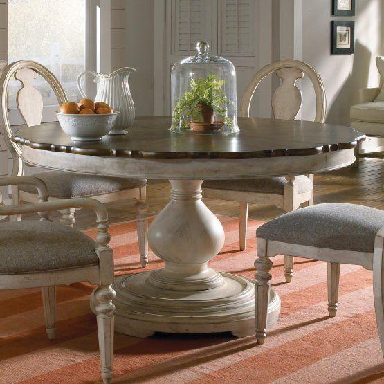 ART Furniture Belmar II Round Dining Table - Antiqued Linen