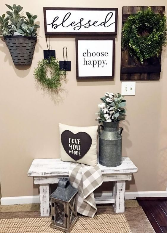Charming Vintage Farmhouse Wall Decor Ideas For A Rustic Country Home To Add Some Rustic Flair Living Room Decor Country Retro Home Decor Farmhouse Wall Decor