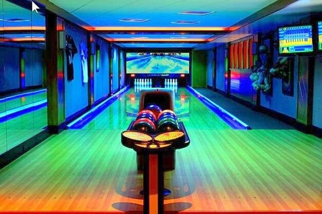 Bowling alley home boutique homes game room basement man cave also best making or sweet beautiful design images on pinterest rh