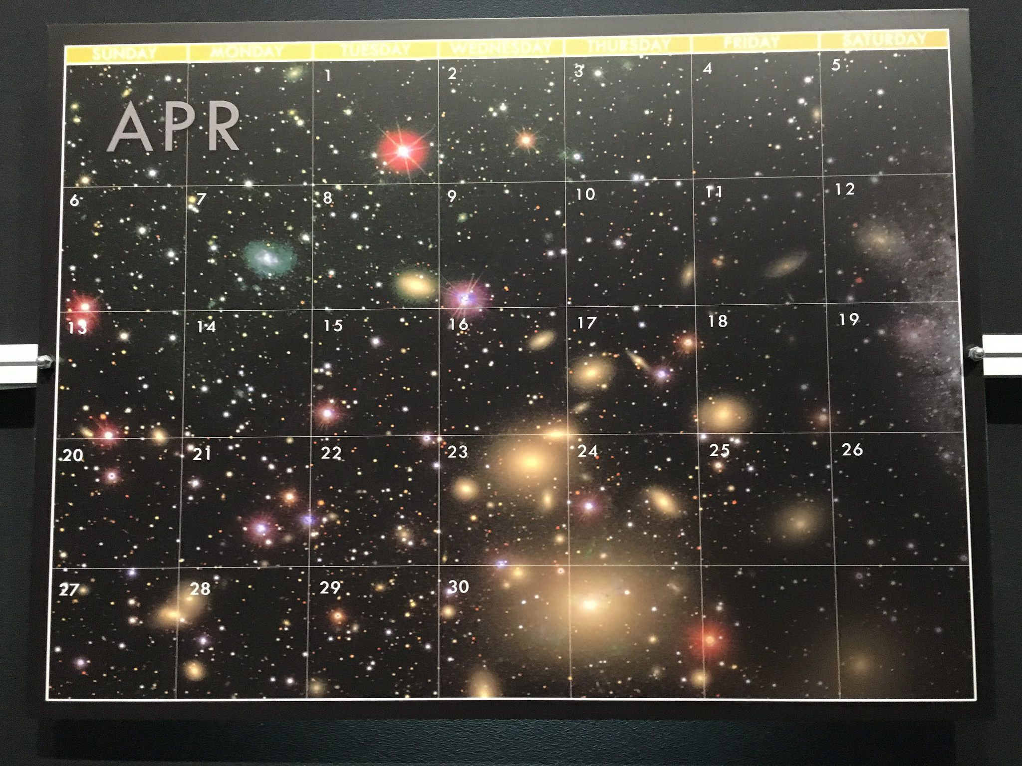 Cosmic Calendar.April Calendars My How Time Does Fly Cosmic Calendar