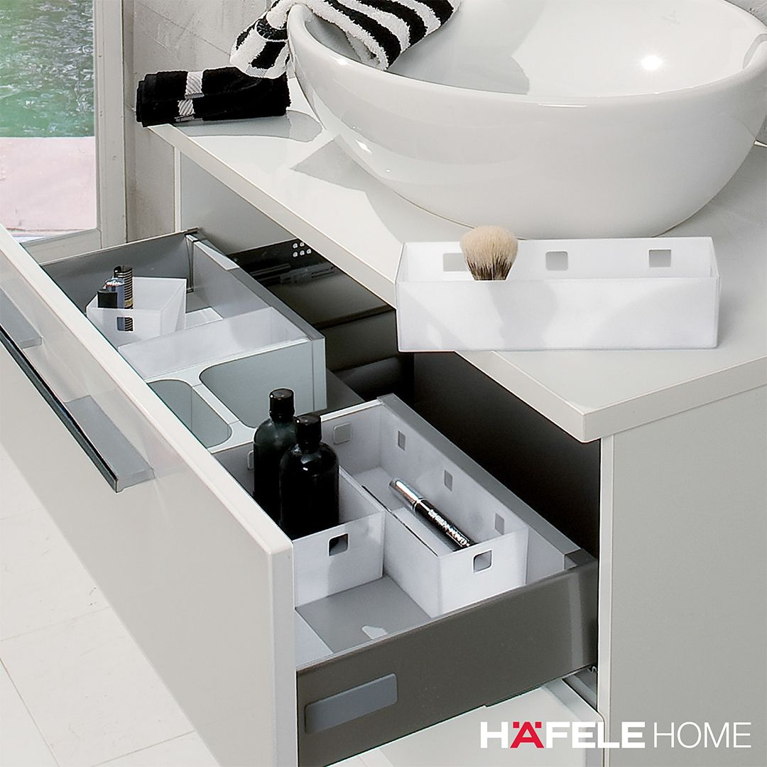 Drawer Inserts Don T Just Belong In The Kitchen They Also Come In Very Handy In The Bathroom For The Bathroom W Timeless Bathroom Hafele Bathroom Renovation [ 1080 x 1080 Pixel ]