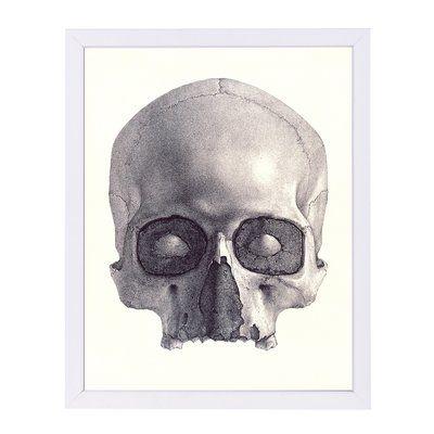 East Urban Home Jawless Skull Graphic Art Print Format White