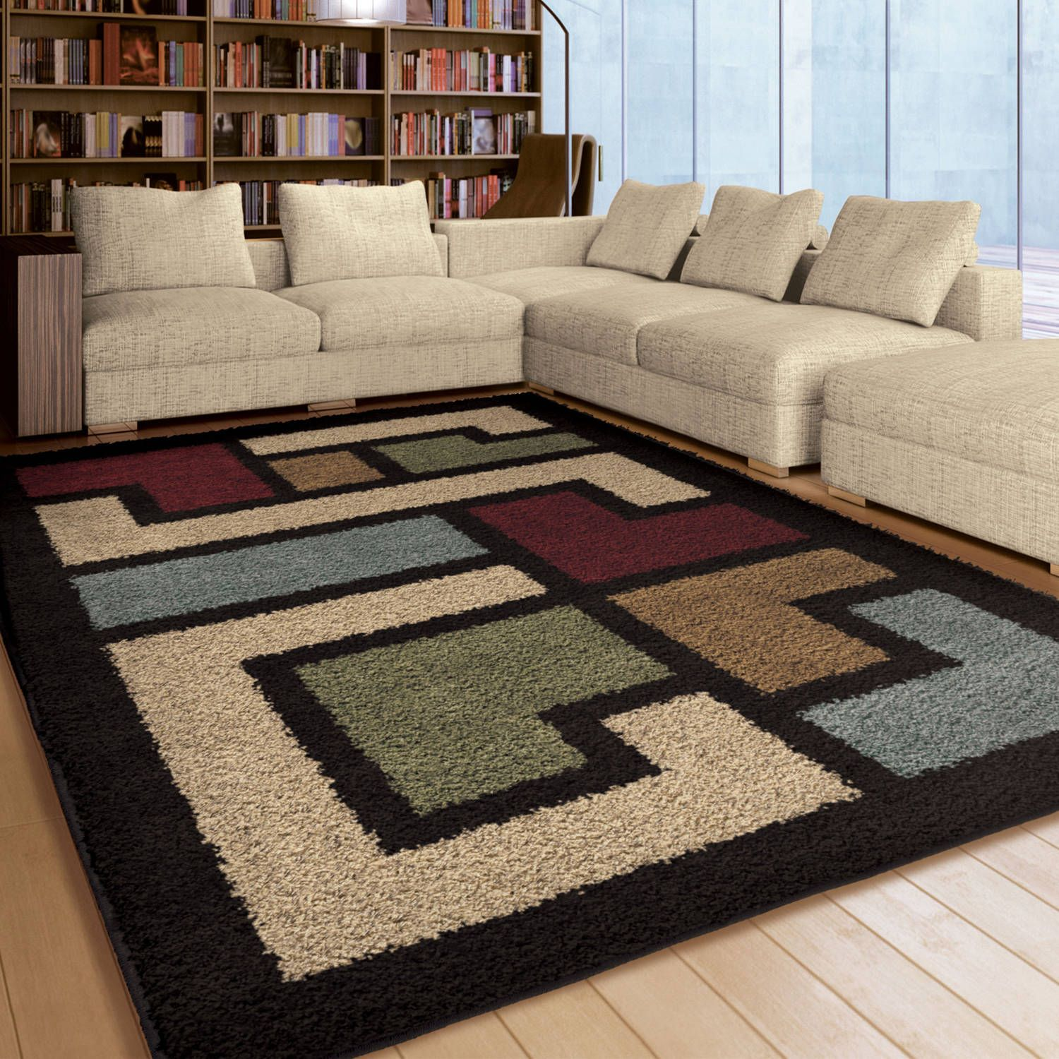 Pleasant Orian Rugs Soft Shag Mapped Floor Multi Colored Area Rug Download Free Architecture Designs Embacsunscenecom