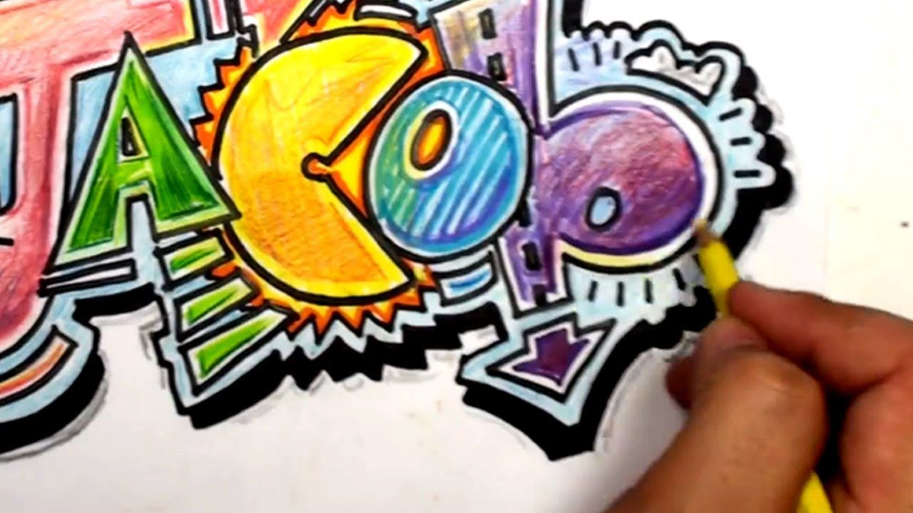 The In Fills In This Graffiti Jacob Are Amazing How To Draw Graffiti Letters Write Jacob In Cool Letters