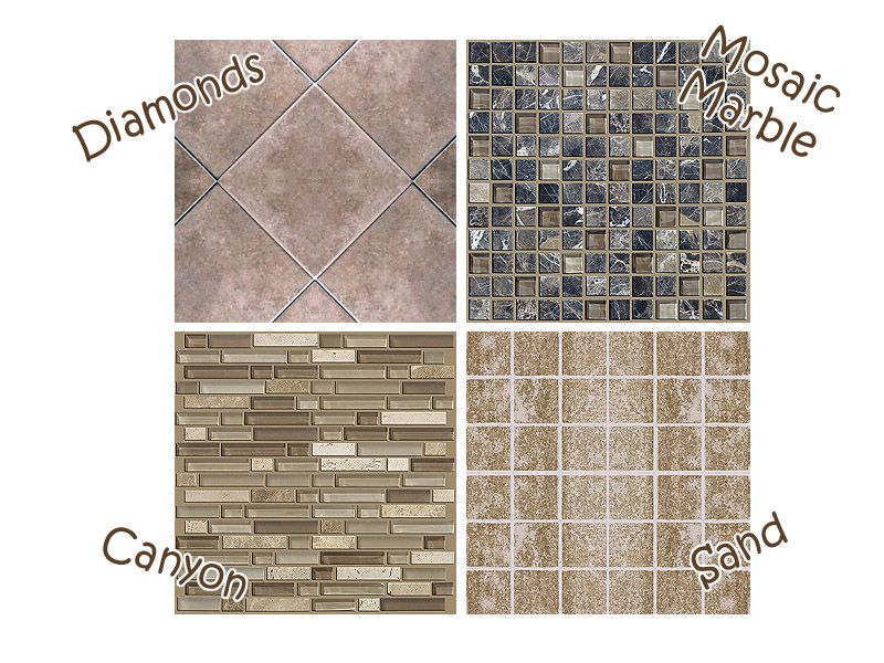 Mod The Sims - Clean Custard - Four New Tiles | Sims 2