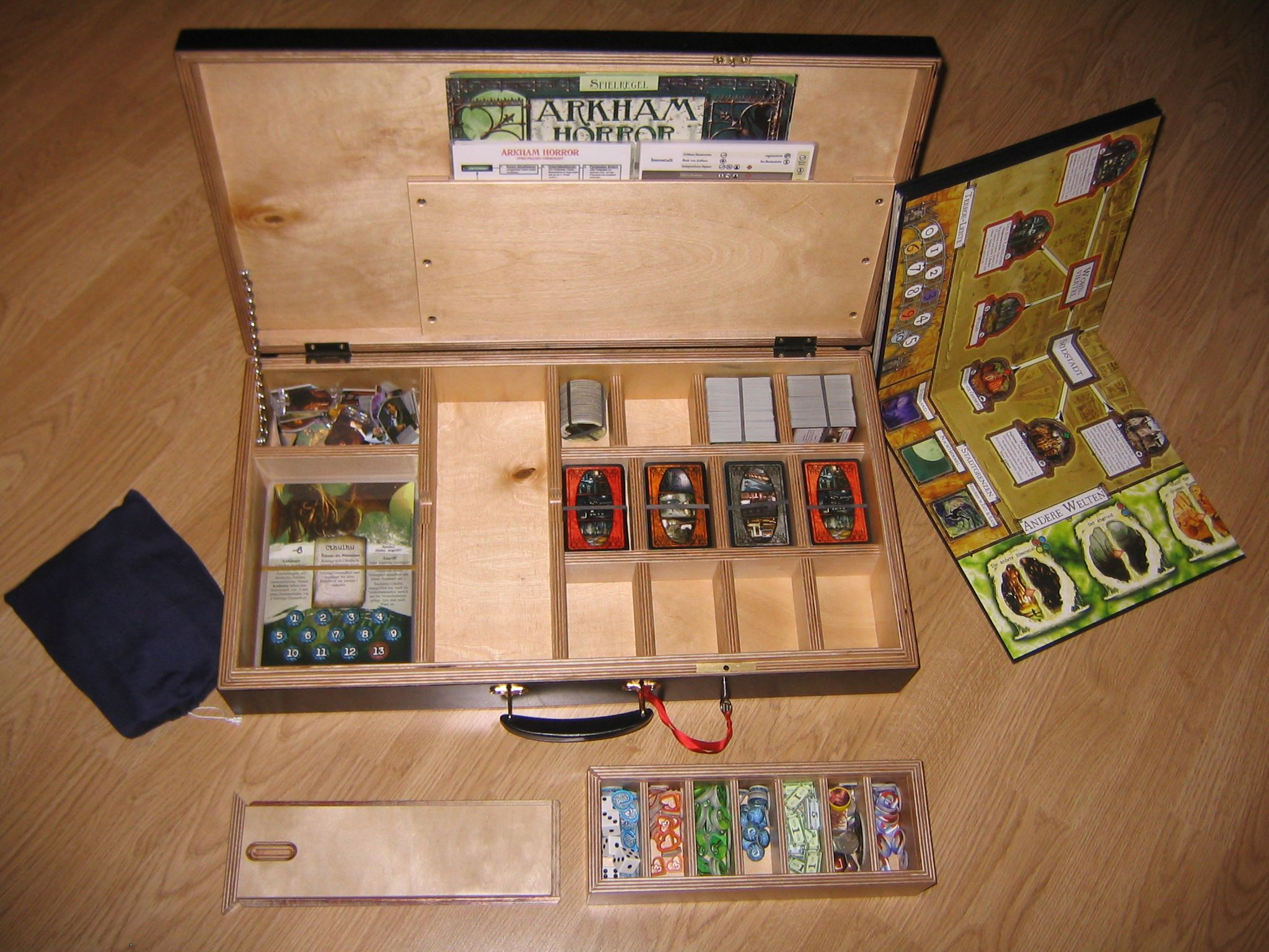 Storage solution for arkham horror and its expansions for Board game storage solutions
