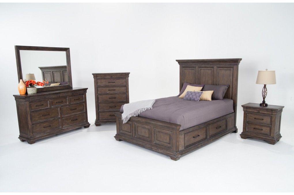 Best Tuscany 8 Piece Queen Storage Bedroom Set Discount 640 x 480