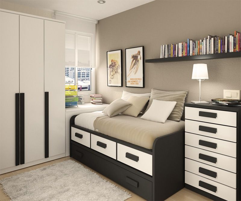 50 Thoughtful Teenage Bedroom Layouts | DigsDigs | Small ...